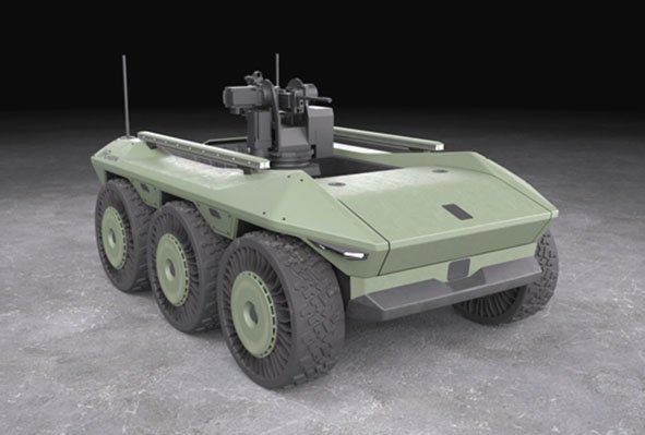 Hyundai Rotem will supply two Multipurpose Unmanned Ground Vehicles that are based on its 6x6 HR-Sherpa platform.  (Hyundai Rotem)
