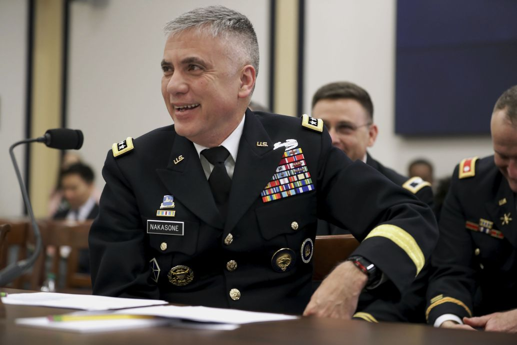 National Security Agency Director General Paul Nakasone testifies before the House Armed Services Committee's Intelligence and Emerging Threats and Capabilities Subcommittee in Washington, DC, on 13 March 2019. Nakasone is a leading proponent of the concept of 'persistent engagement'. (Chip Somodevilla/Getty Images)