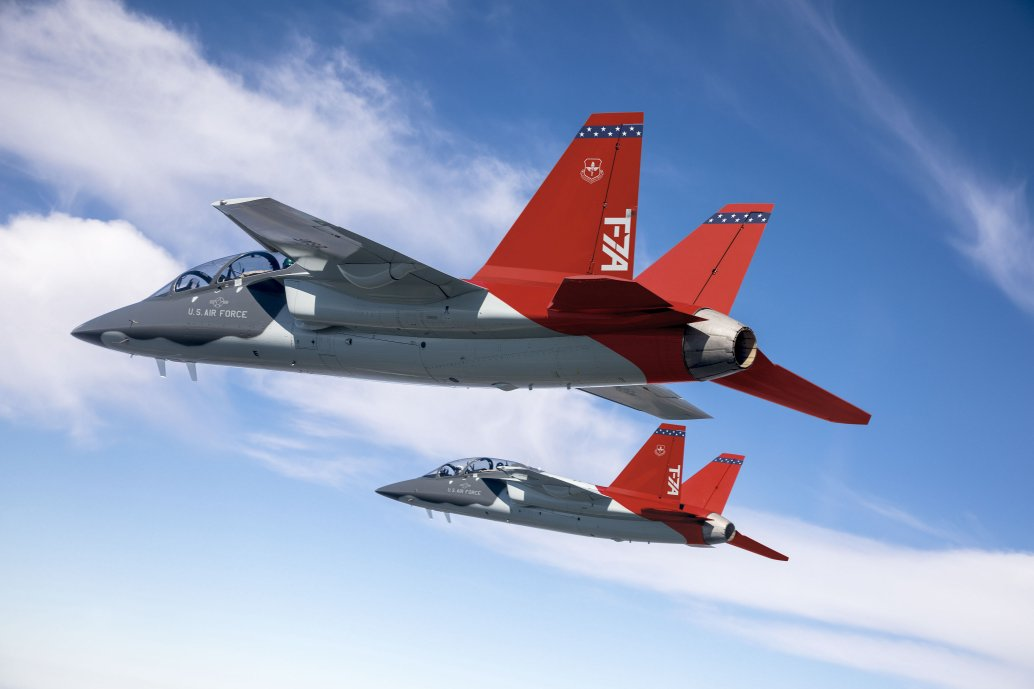 The Boeing T-7A Red Hawk advanced jet trainer utilised digital engineering for its development. The US Air Force's acquisition executive, Will Roper, is drawing inspiration from a Formula 1 racing team's digital engineering practices as he tries to apply these concepts to the service's next-generation aircraft. (Boeing)