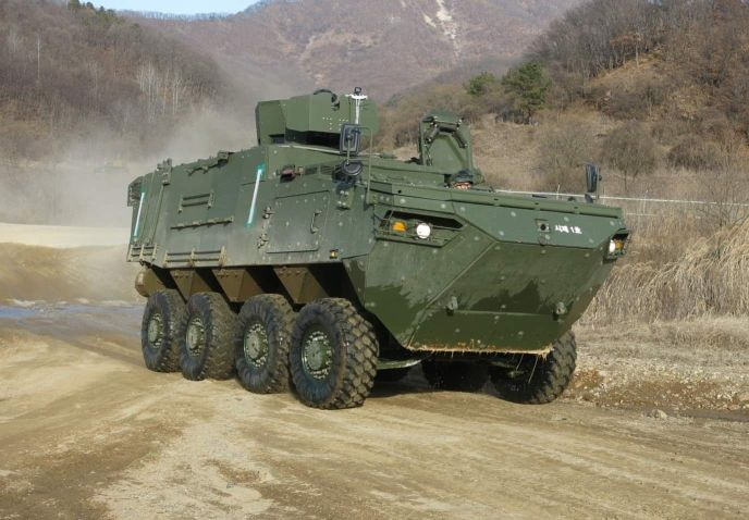 South Korea's DAPA announced on 25 January that development of a command post variant of the Hyundai Rotem K808 wheeled armoured combat vehicle has been completed. (DAPA)