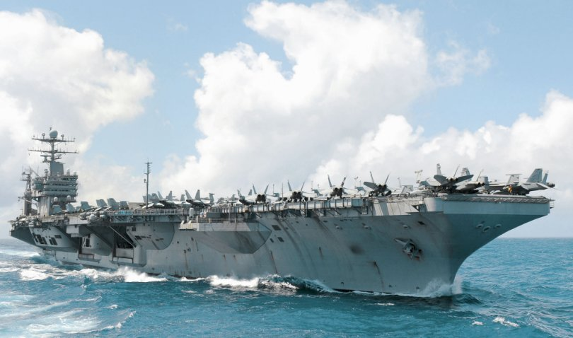 The first two I-Stalker installations were completed on board the Nimitz-class carriers USS          Abraham Lincoln          (pictured) and USS          Ronald Reagan. (US Navy)