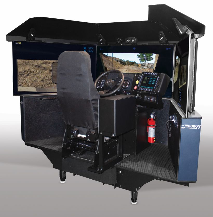 Doron Precision Systems has been awarded a contract to supply seven of its 550JLTVplus Joint Light Tactical Vehicle (JLTV) simulators to the US Army Reserve. (Doron Precision Systems)