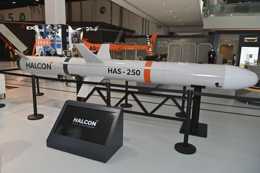 The HAS-250 on display at IDEX 2021. (Edge)