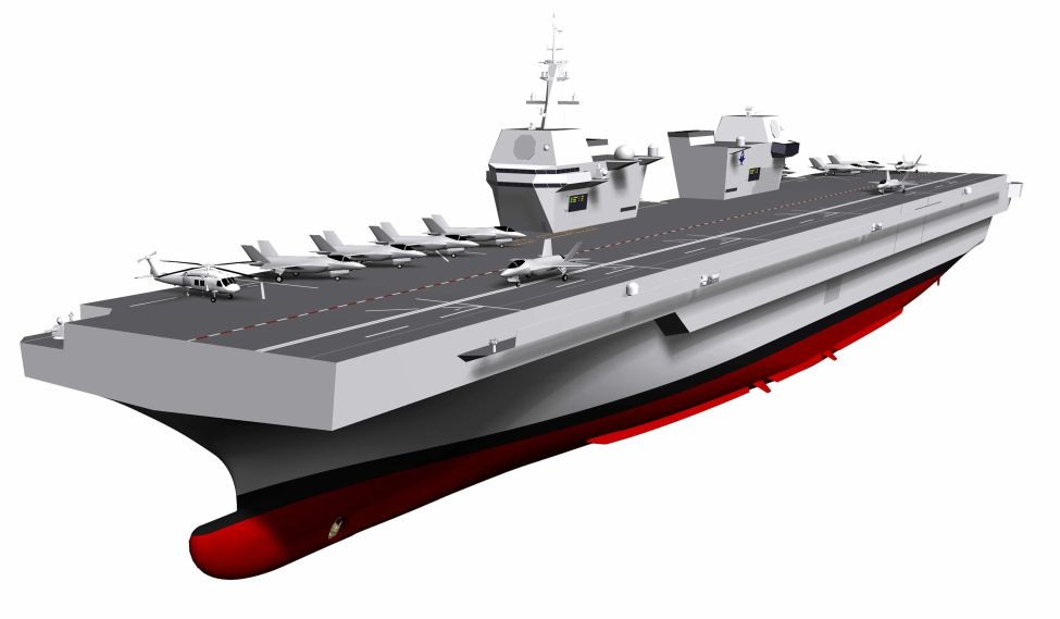 The RoKN unveiled in January a revised conceptual design for its future light aircraft carrier featuring a twin-island arrangement. Work on the carrier project is now set to officially begin in 2022 and be completed by 2033, according to DAPA. (RoKN)