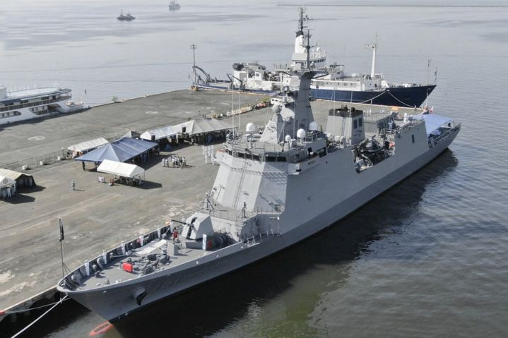 The PN officially welcomed its second and final José Rizal-class guided-missile frigate, the future BRP         Antonio Luna         (FF 151), in an arrival ceremony held on 26 February at Pier 13 in South Harbor, Manila.        (Philippine Navy)