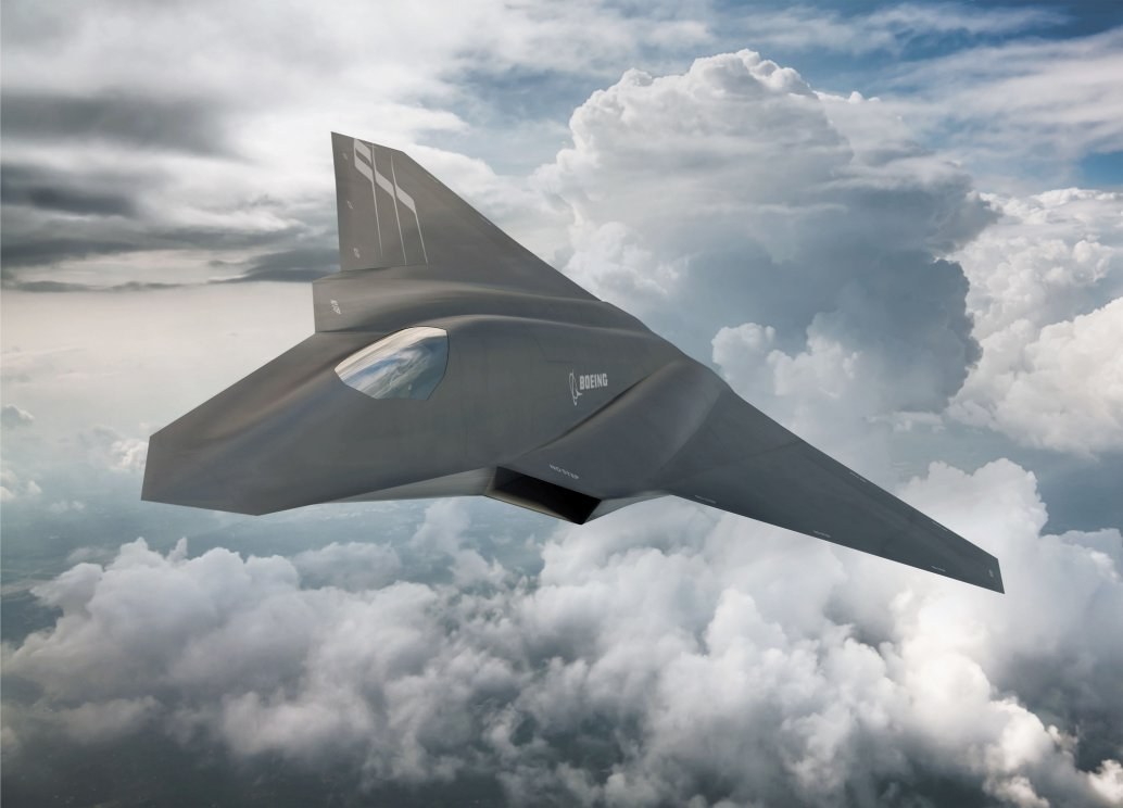 An artist's impression of an NGAD concept. According to a DoD contract notification, the US military may field this or another 'next generation' combat aircraft by the end of FY 2029. (Boeing)