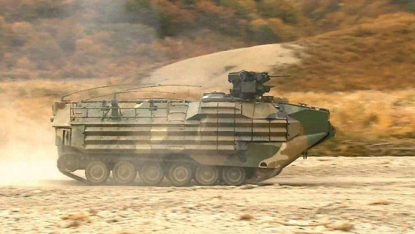 A KAAV7A1 amphibious assault vehicle trialling an RCWS developed by Hanwha Defense.  (Hanwha Defense)