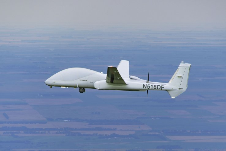 The Firebird is an optionally-piloted unmanned aircraft that can operate several discrete payloads simultaneously, and its ability to carry a pilot overcomes the 'flight through civilian airspace' problems. (Northrop Grumman)