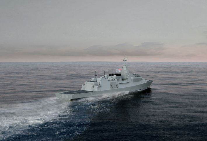 Sea Ceptor will undertake the CIADS role on the Royal Canadian Navy's new CSC frigates. (Lockheed Martin Canada)
