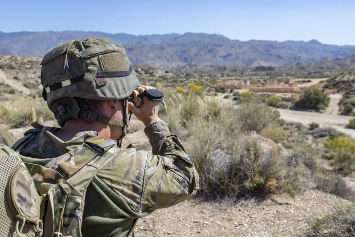 Rafael has developed 'smart' binoculars to enable infantry to interface with its Fire Weaver system. (Rafael Advanced Defense Systems)