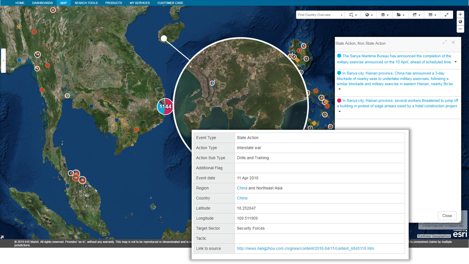 Image of events data south china sea
